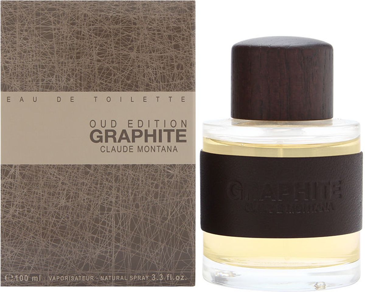 Montana Graphite Oud Edition 100 ml - Eau De Toilette Spray Herenparfum