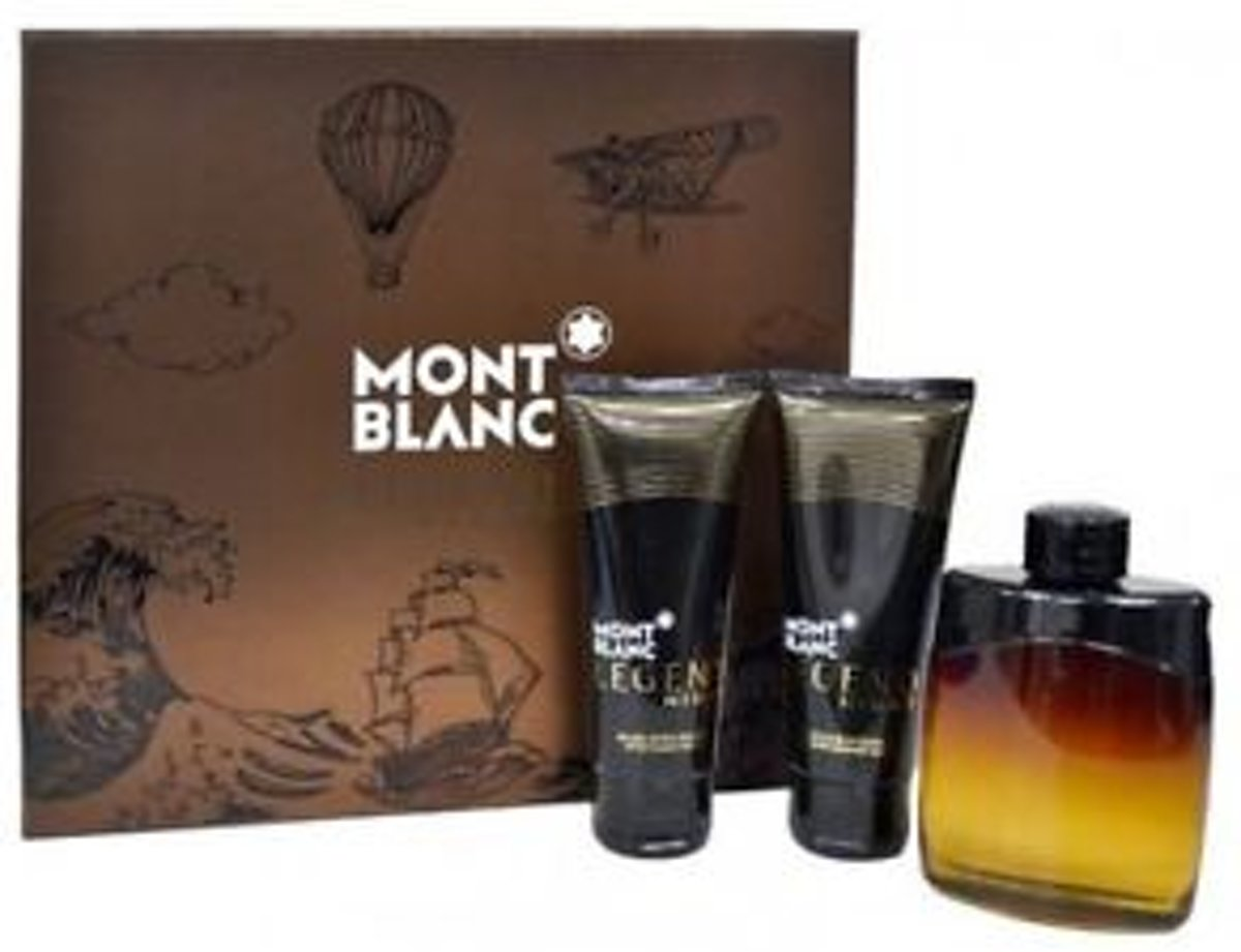 Montblanc Mont Blanc Legend Night for Men EdT 100ml + AS 100ml + SG 100ml