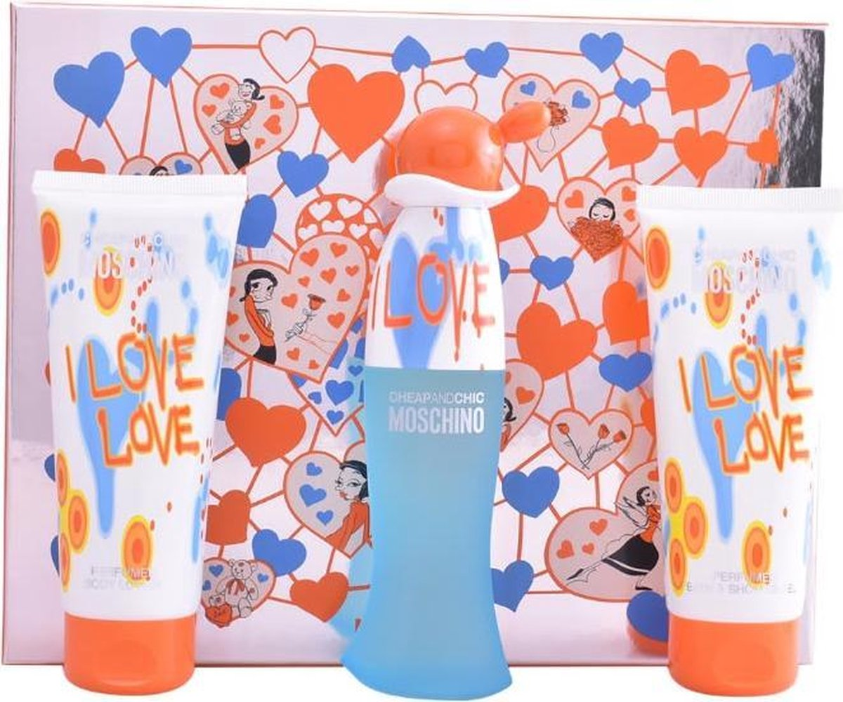 Moschino Cheap And Chic I Love Love Eau De Toilette Spray 50ml Set 3 Pieces 2020