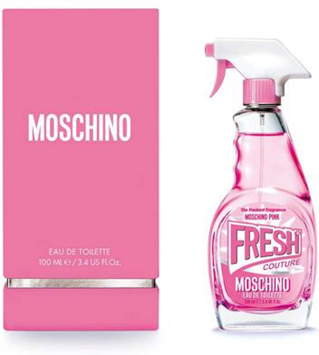 Moschino Fresh Couture Pink Eau De Toilette Spray 100ml Set 4 Pieces 2019