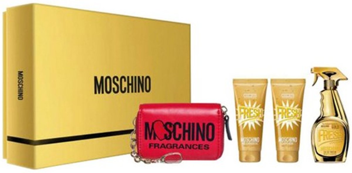 Parfumset voor Dames Fresh Couture Gold Moschino (4 pcs)