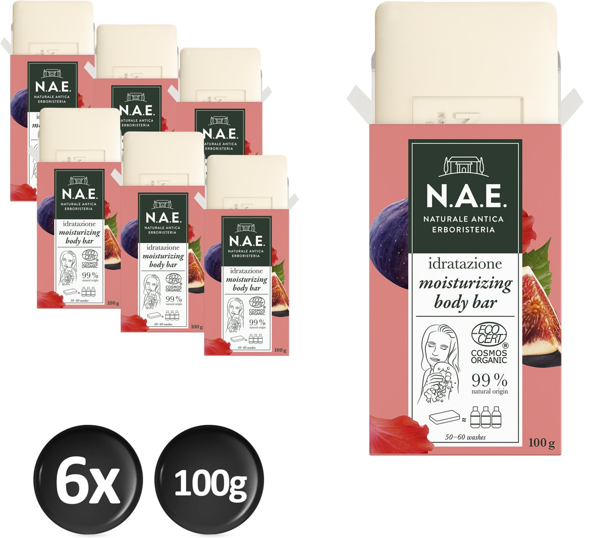 N.A.E. Shower gel Fig 6x