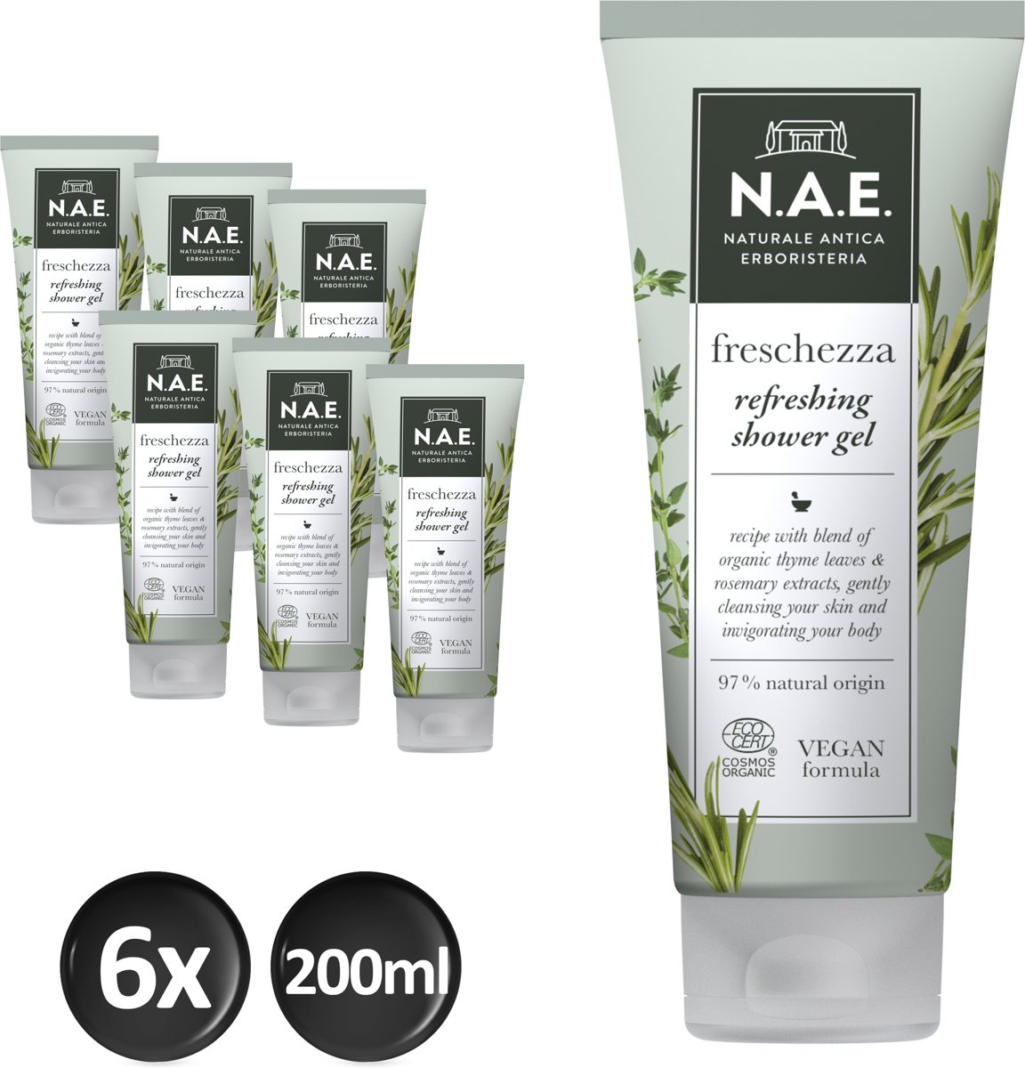 N.A.E. Shower gel Herbal 6x