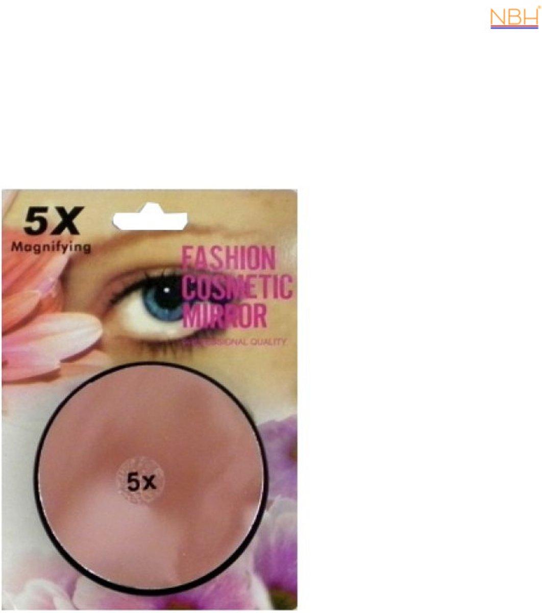 5x vergrotende make up spiegel 7 5 cm 7106616272152 for Vergrotende spiegel