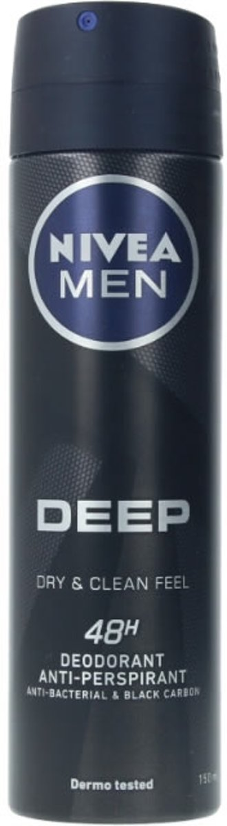 Men Deep Black Carbon Deo Vaporizador 150 ml