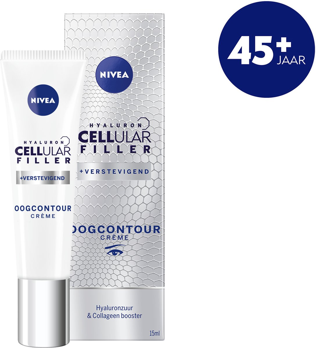NIVEA CELLular Anti Age 45+ - Oogcontourcrème - Anti-Rimpel - 15 ml
