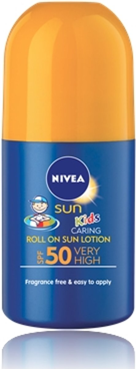 NIVEA KIDS CARING ROLL ON SUNSCREEN LOTION SPF 50 Lichaam zonnebrandlotion