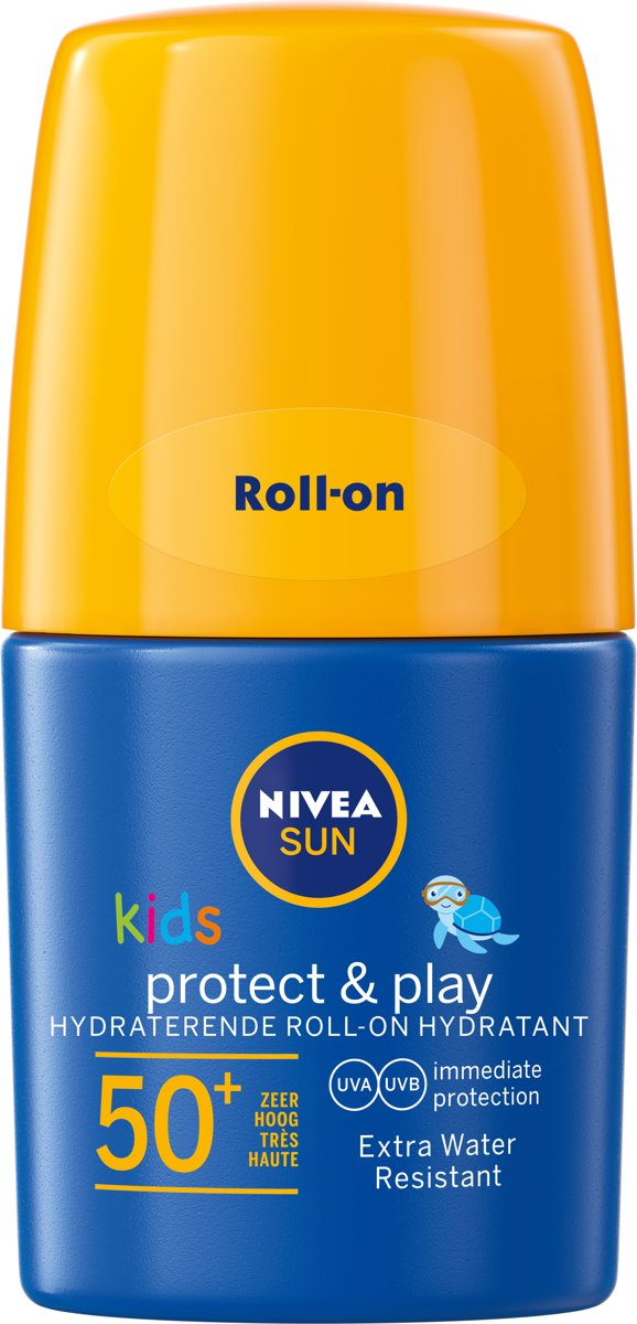 NIVEA SUN Kids Zonnebrand - Hydraterende Roll-on Zonnecrème - SPF 50+ - 50 ml