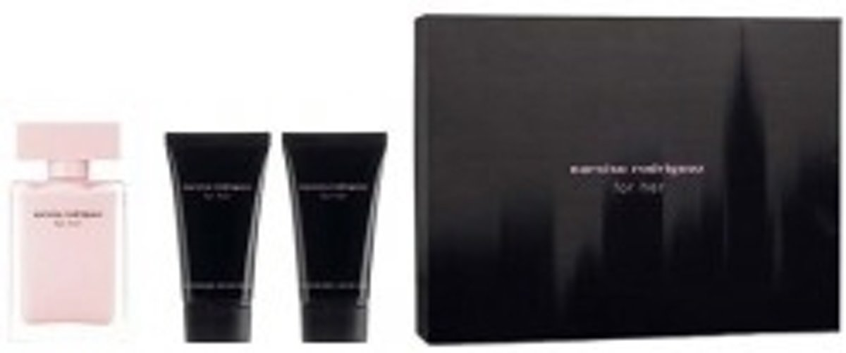 Narciso Rodriguez - Eau de parfum - For her 50ml eau de parfum + 50ml showergel + 50ml bodylotion - Gifts ml