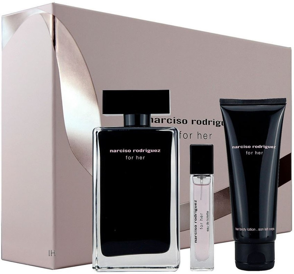 Narciso Rodriguez - Eau de toilette - For her 100ml eau de toilette + 75ml bodylotion + 10ml eau de toilette - Gifts ml