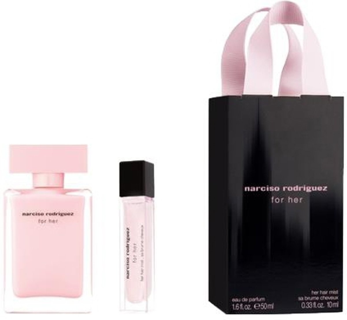 Narciso Rodriguez - For her 50ml eau de parfum + 10ml Hairmist - Gifts ml