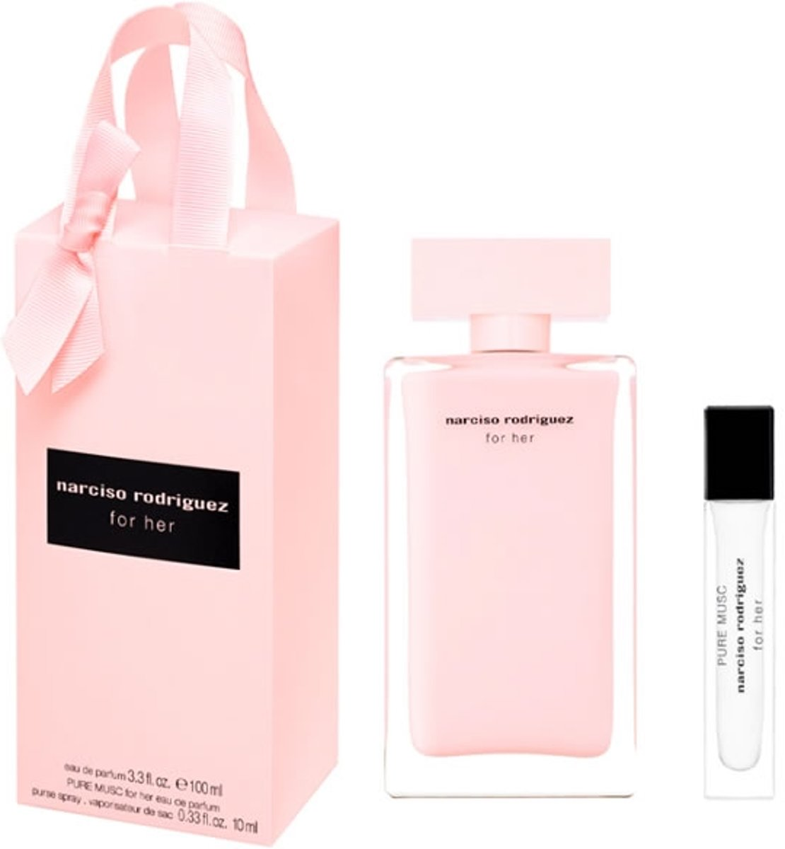 Narciso Rodriguez For Her Eau De Parfum Spray 100ml Set 2 Pieces 2020