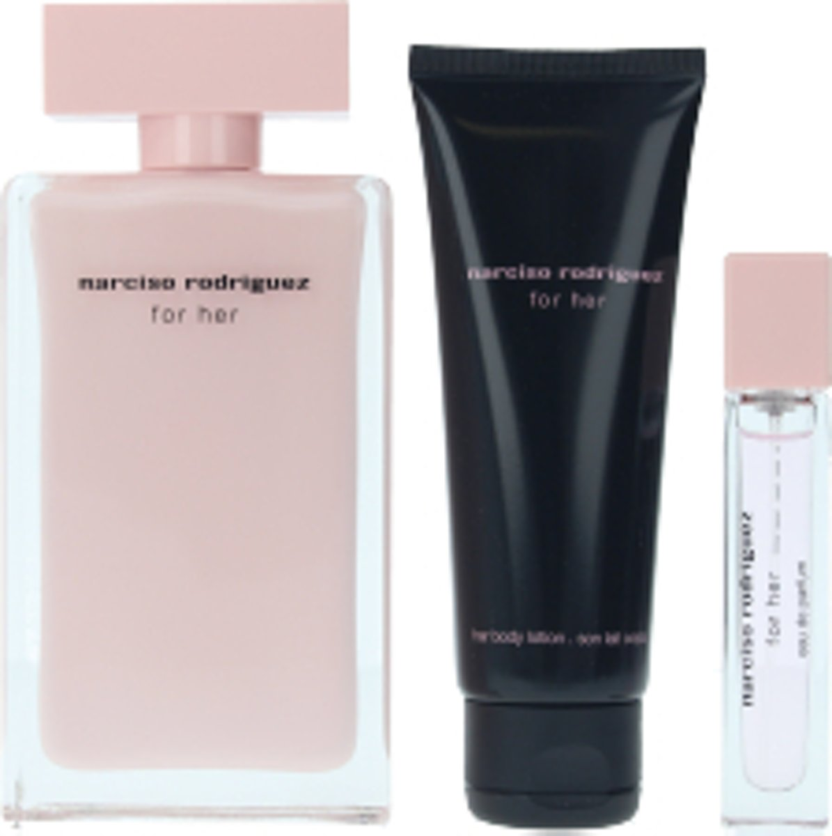 Nuxe Narciso Rodriguez For Her Eau De Perfume Spray 100ml Set 3 Pieces 2019