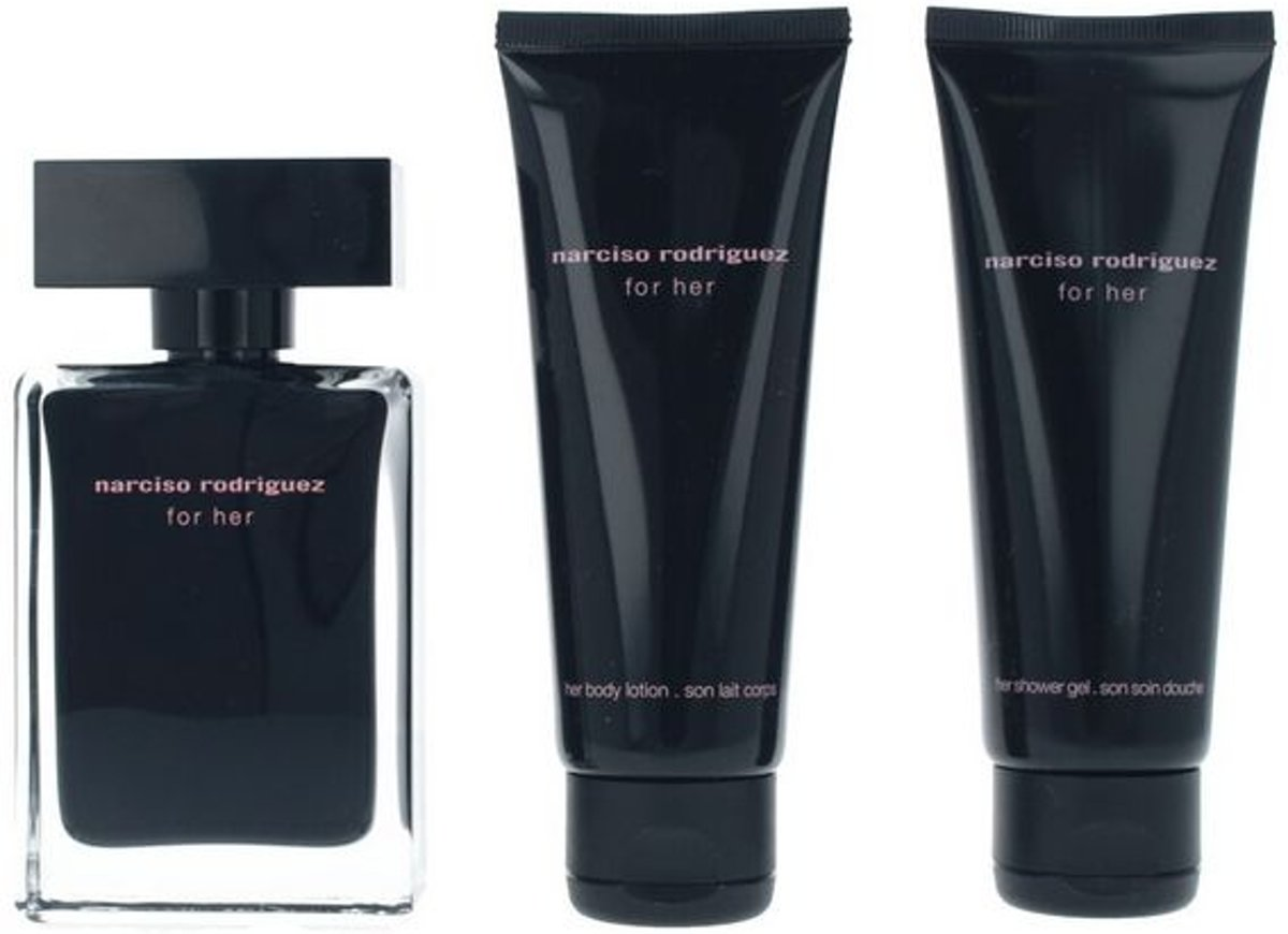 Parfumset voor Dames For Her Narciso Rodriguez (3 pcs)