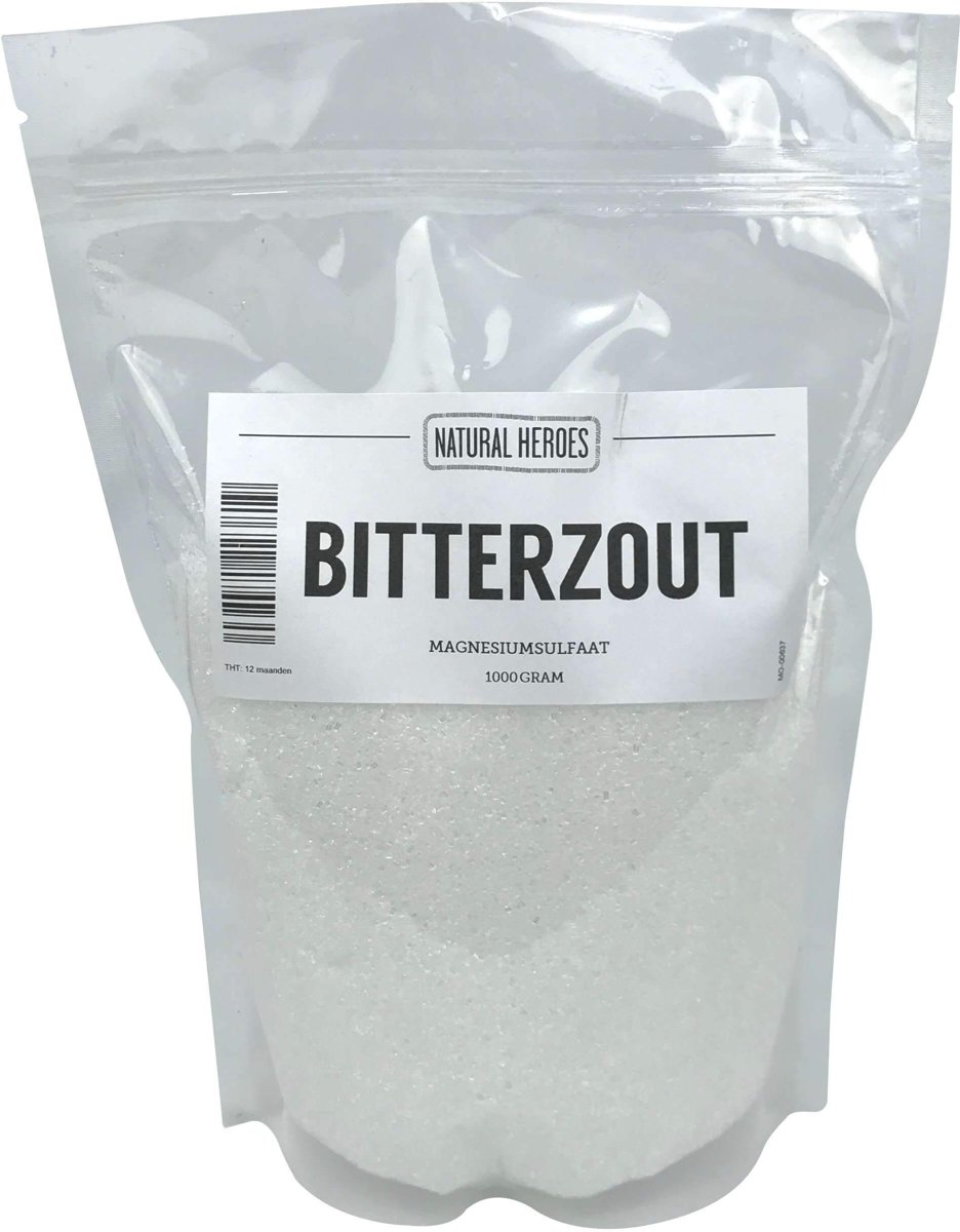 Bitterzout (Epsom zout / Magnesiumsulfaat) 1000 Gram
