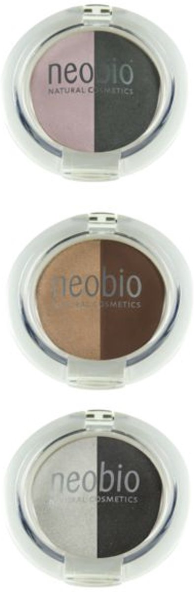 Neobio Eyeshadow duo 02 brown champagne 5 gram