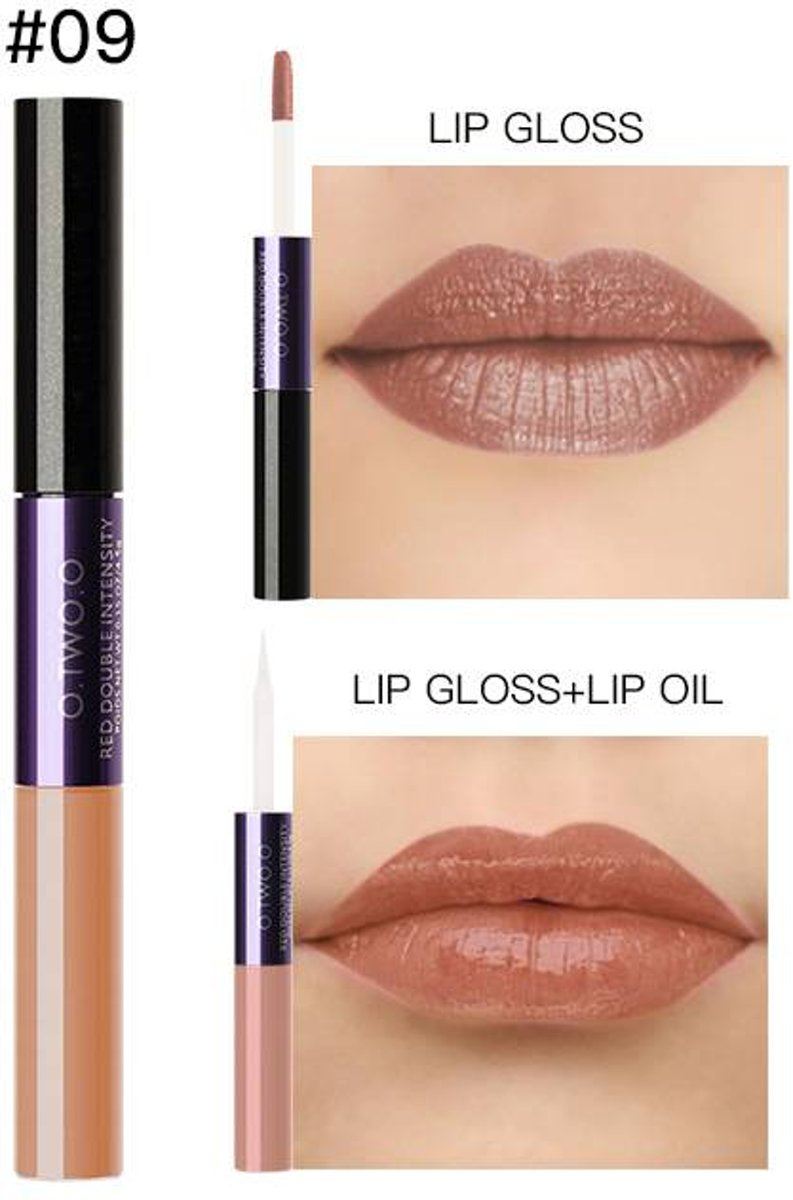 2-in-1 Matte  Lipgloss & Lip Oil - Color 09 Muddled