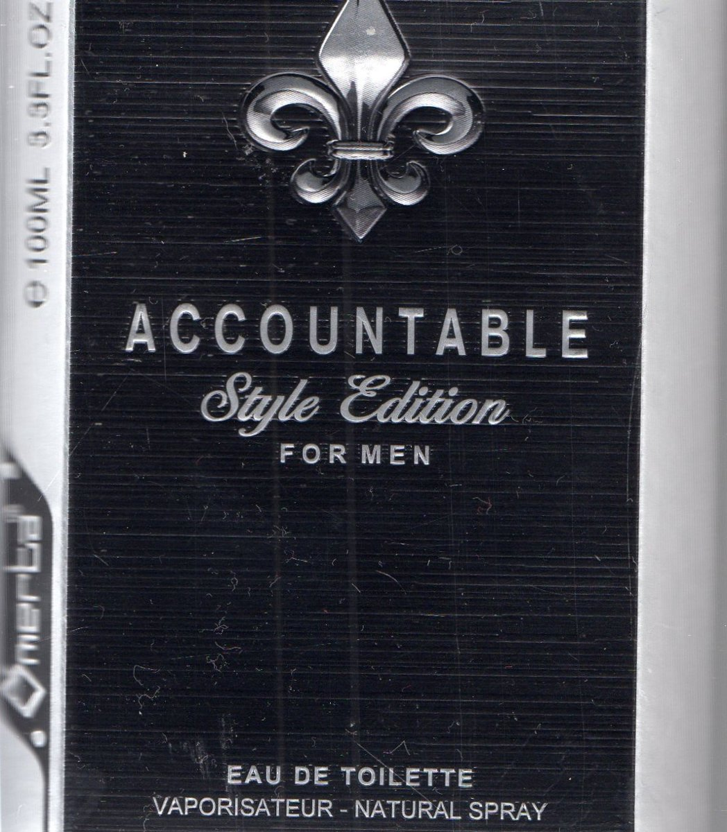 accountable style edition for men  eau de toilette 100 ml