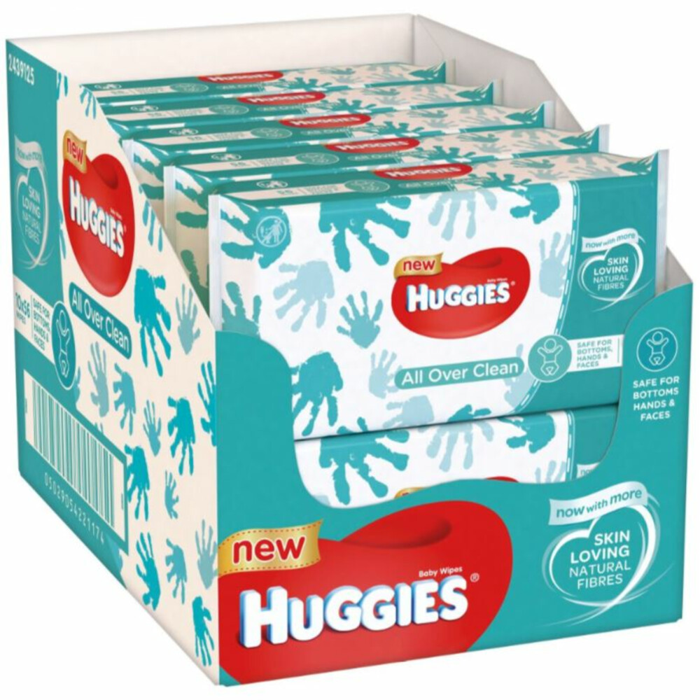 10x Huggies Billendoekjes Everyday 56 doekjes