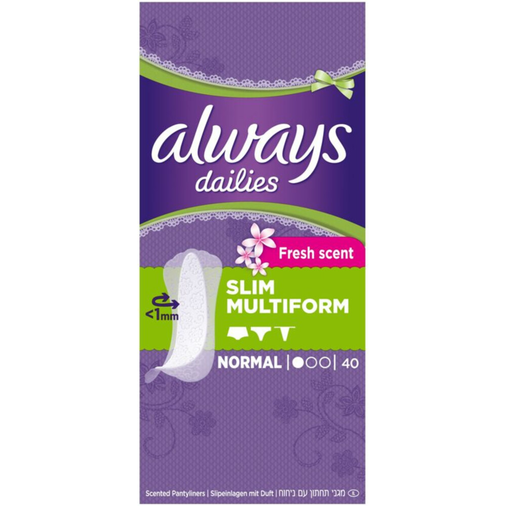 14x Always Inlegkruisjes Fresh Flexistyle 40 stuks