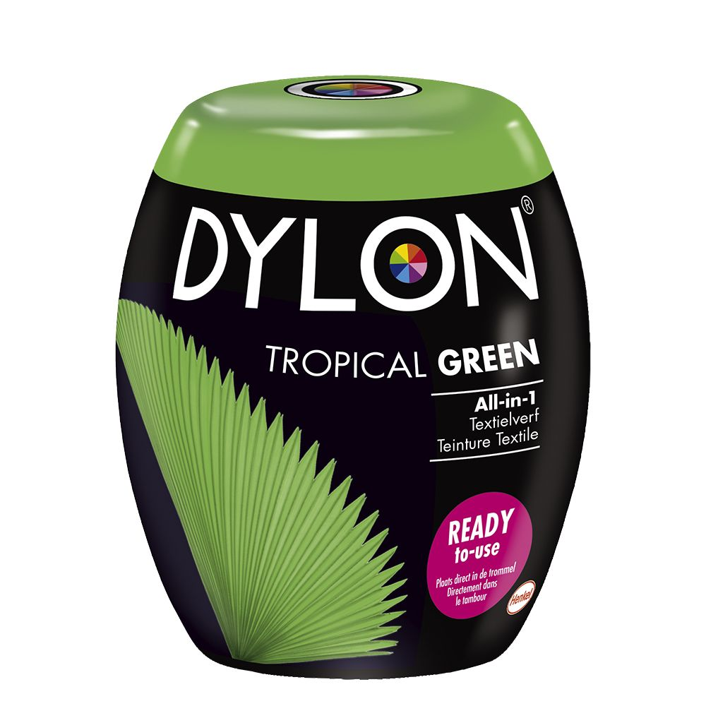 3x Dylon Textielverf Tropical Green 350 gr