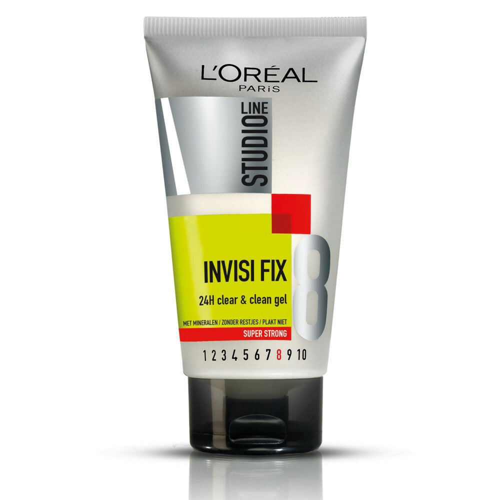 3x L\Oréal Studio Line Invisi Fix 24H Clear&Clean Gel Super Strong 150 ml