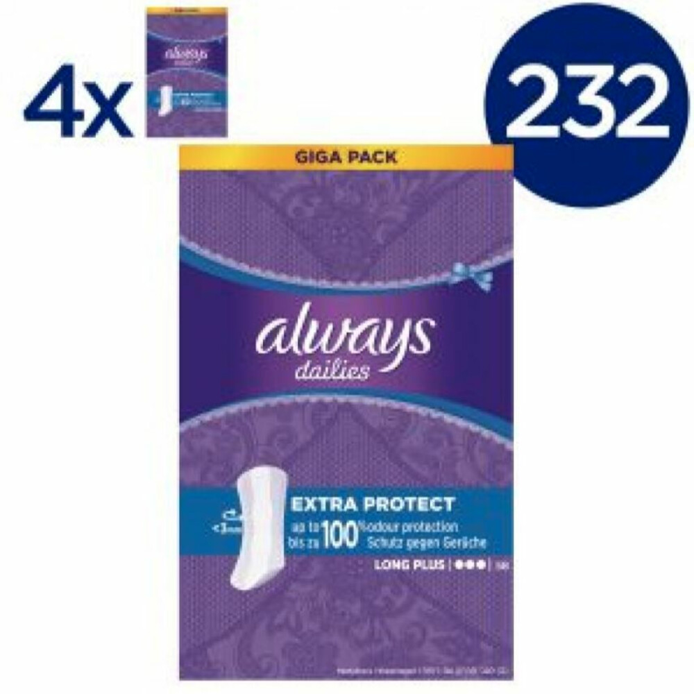 4x Always Inlegkruisjes Long Plus 58 stuks