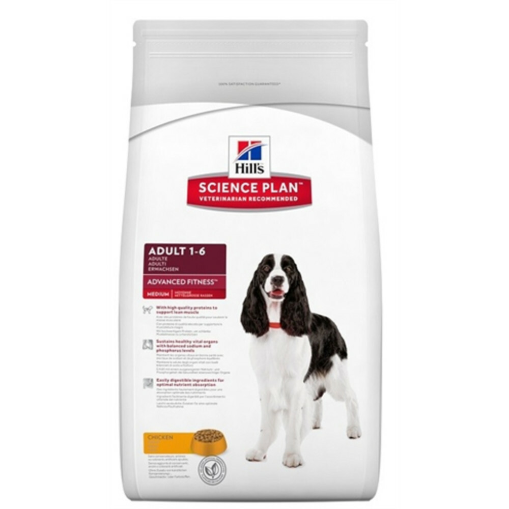 4x Hill\s Canine Adult Medium Kip 2,5 kg