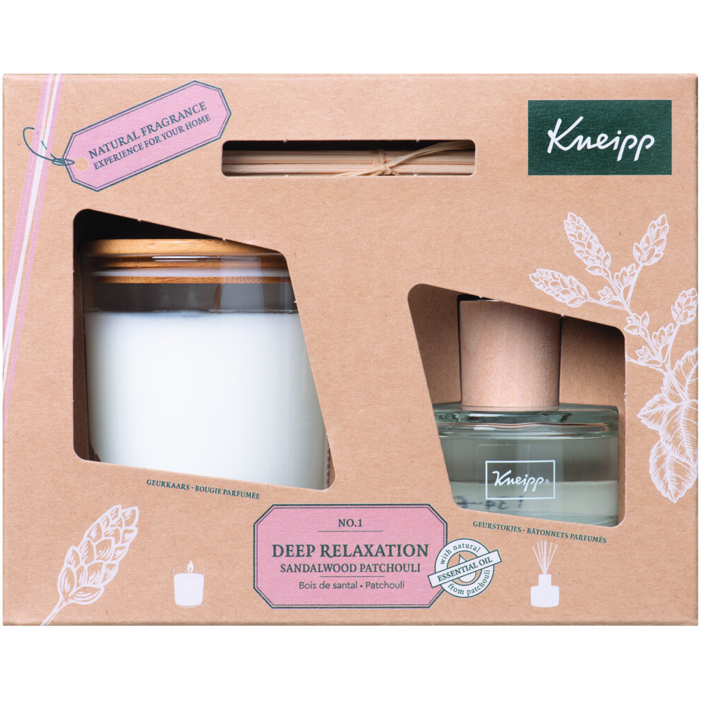 4x Kneipp Giftset Home Fragrance Sandalwood-Patchouli