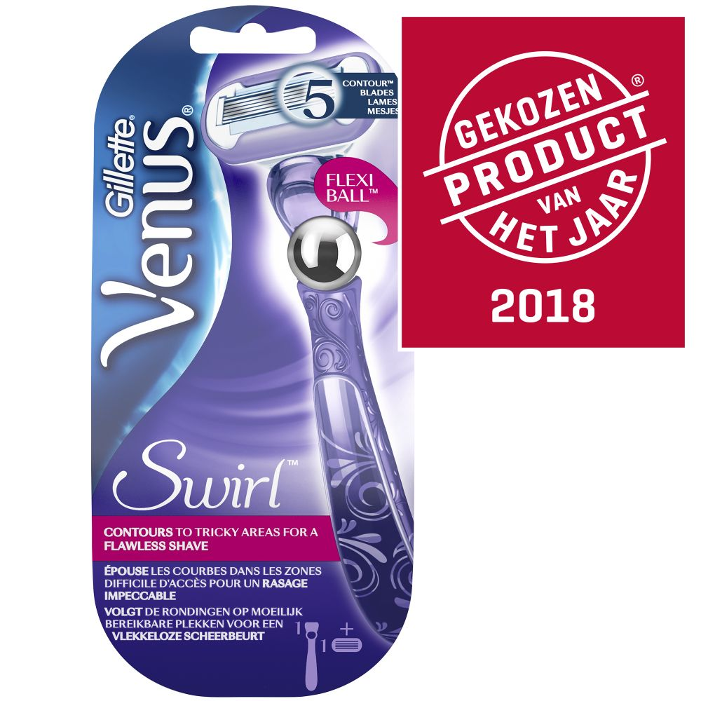 5x Gillette Venus Extra Smooth Swirl Flexiball Scheermes