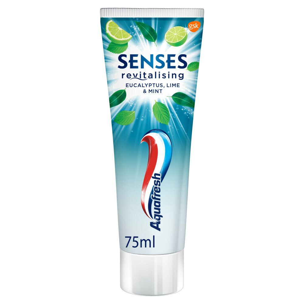 6x Aquafresh Tandpasta Senses Eucalyptus 75 ml