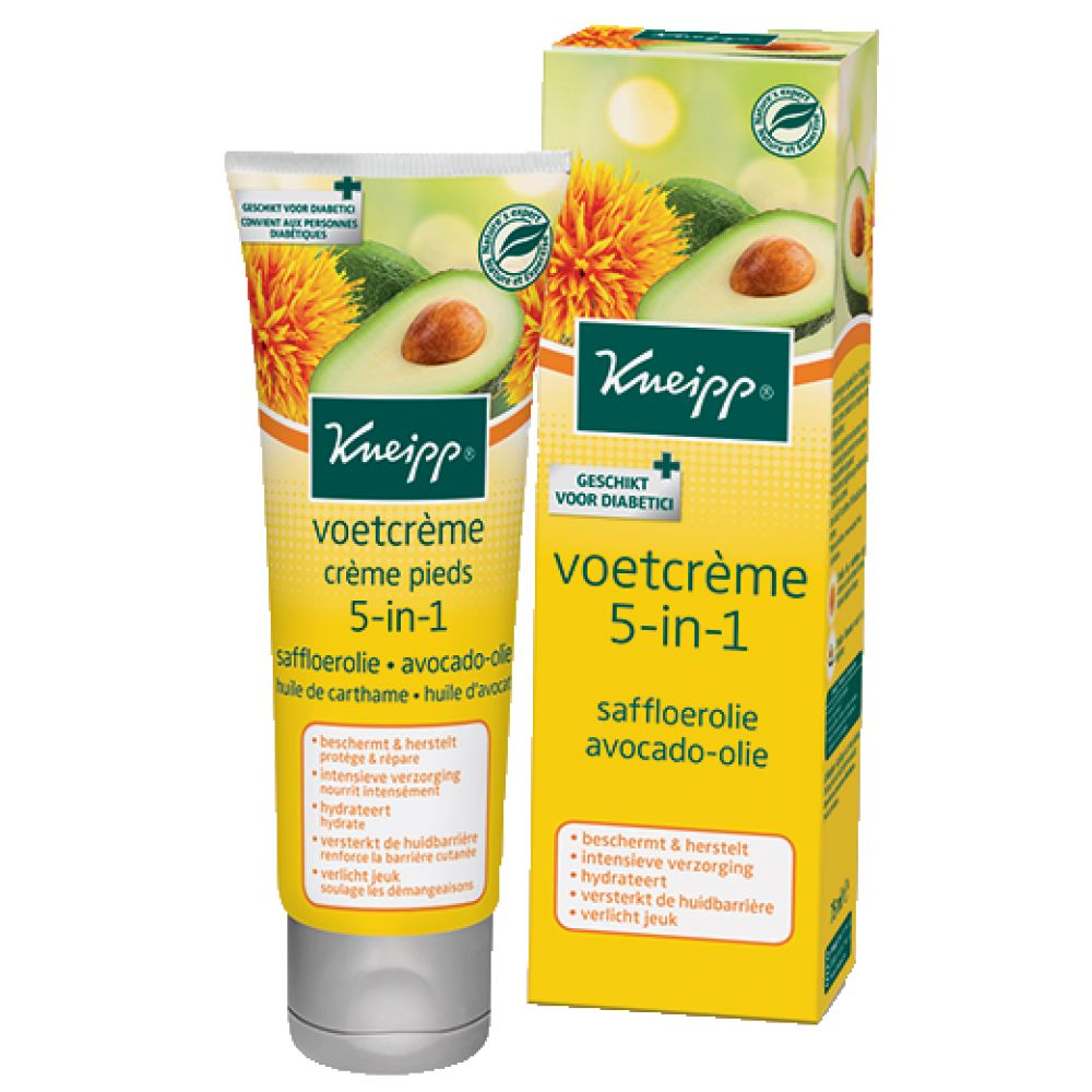 6x Kneipp Voetcreme 5-in-1 75 ml