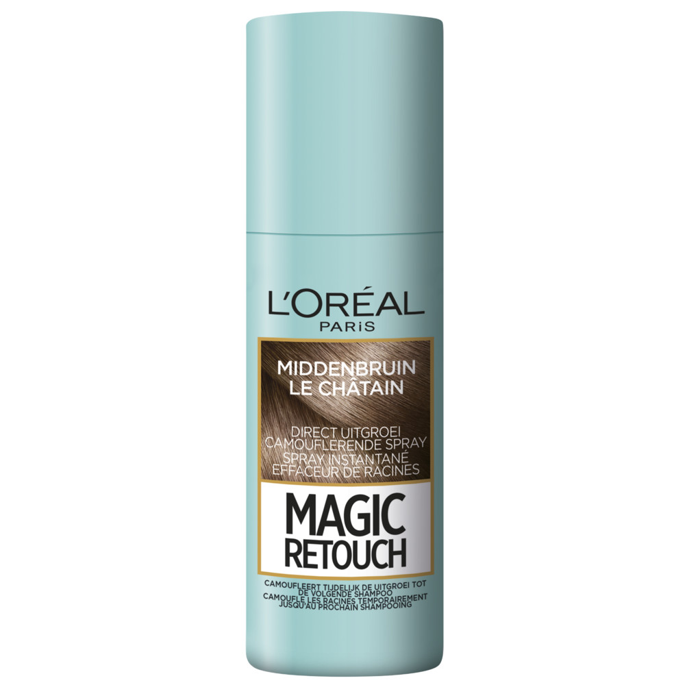 6x L\Oréal Magic Retouch Uitgroeispray Middenbruin 75 ml