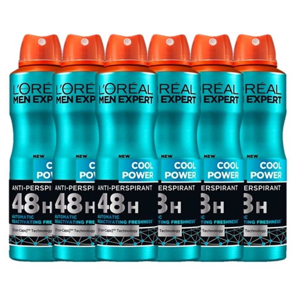 6x L\Oréal Men Expert Deodorant Spray Cool Power 150 ml