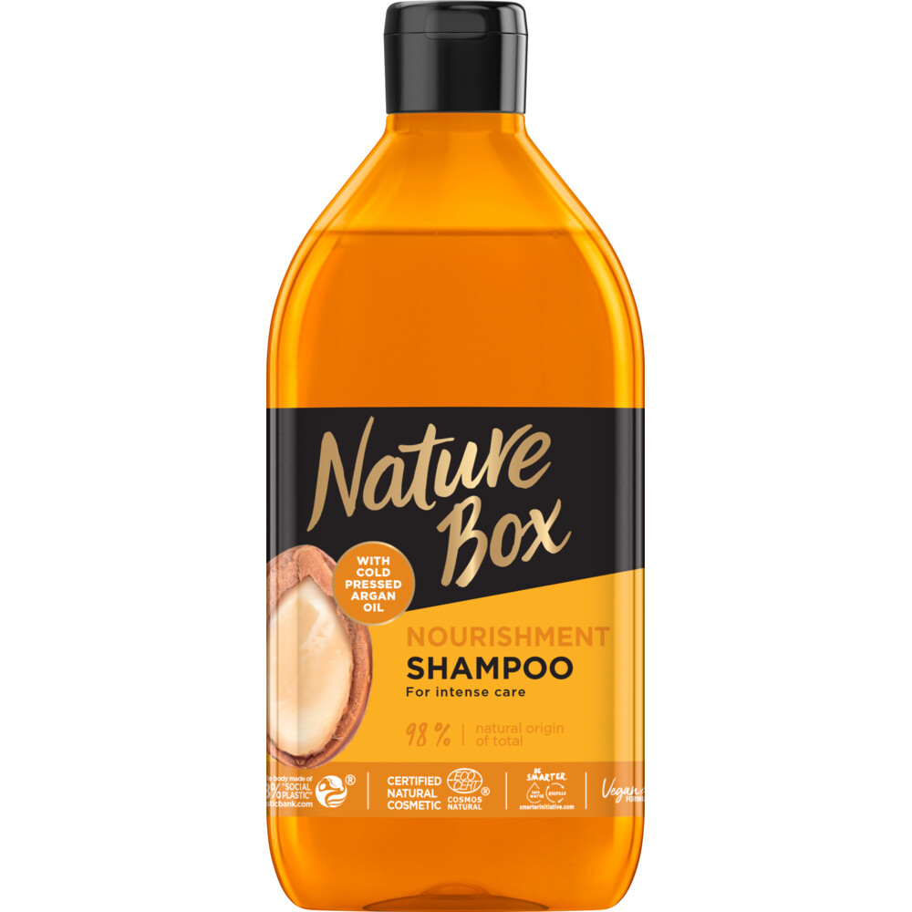 6x Nature Box Argan Nourishment Shampoo 385 ml