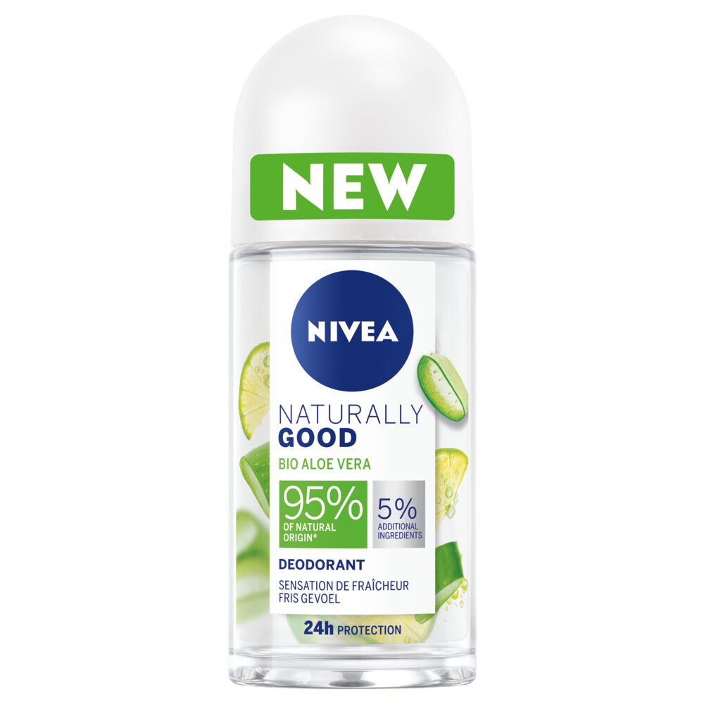 6x Nivea Deodorant Roller Naturally Good Aloe Vera 50 ml