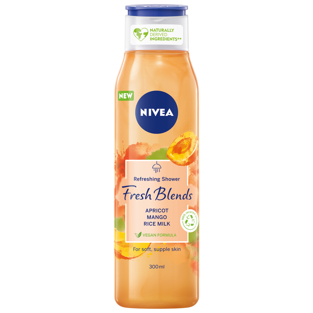 6x Nivea Fresh Blends Douchegel Apricot 300 ml