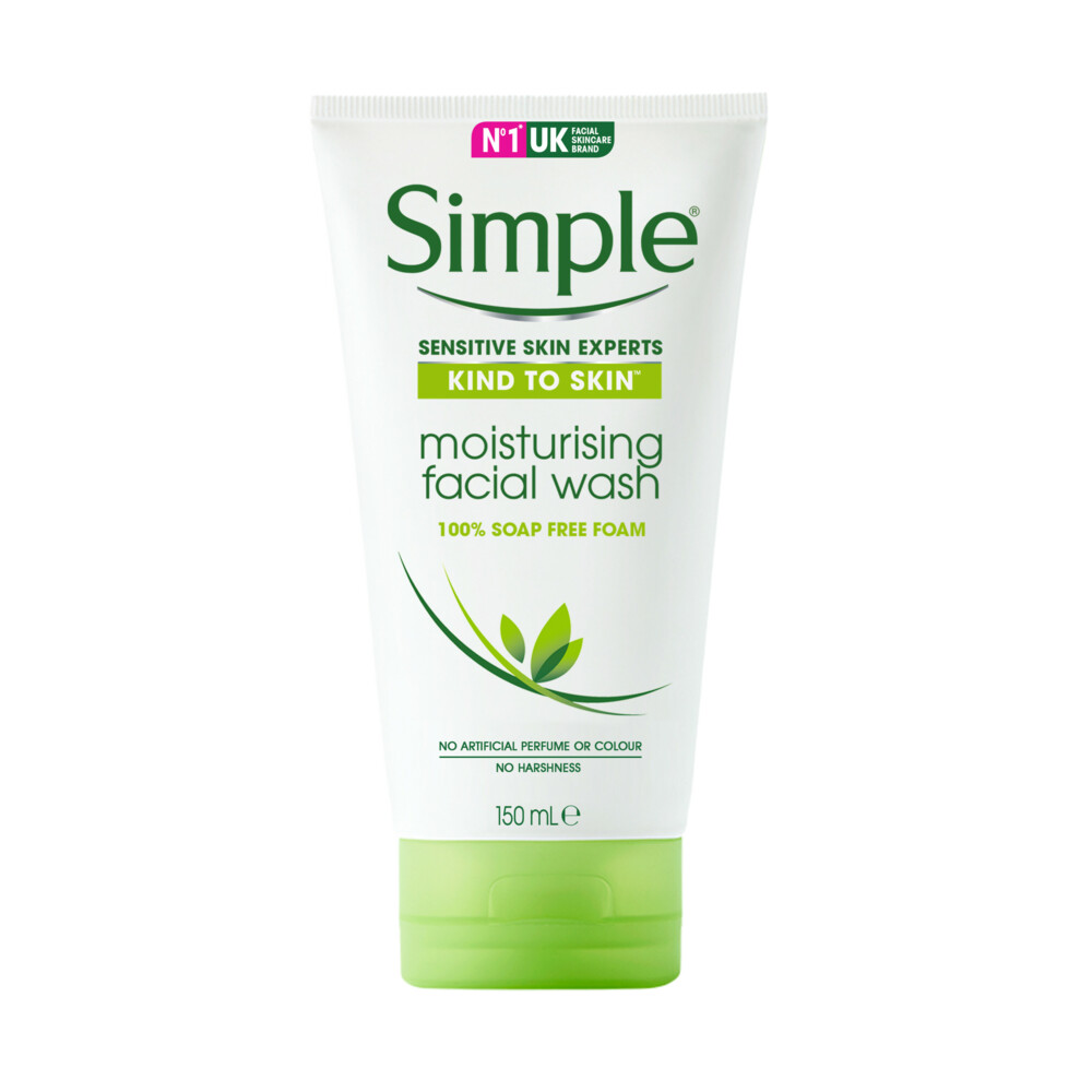 6x Simple Face Wash Hydraterend 150 ml