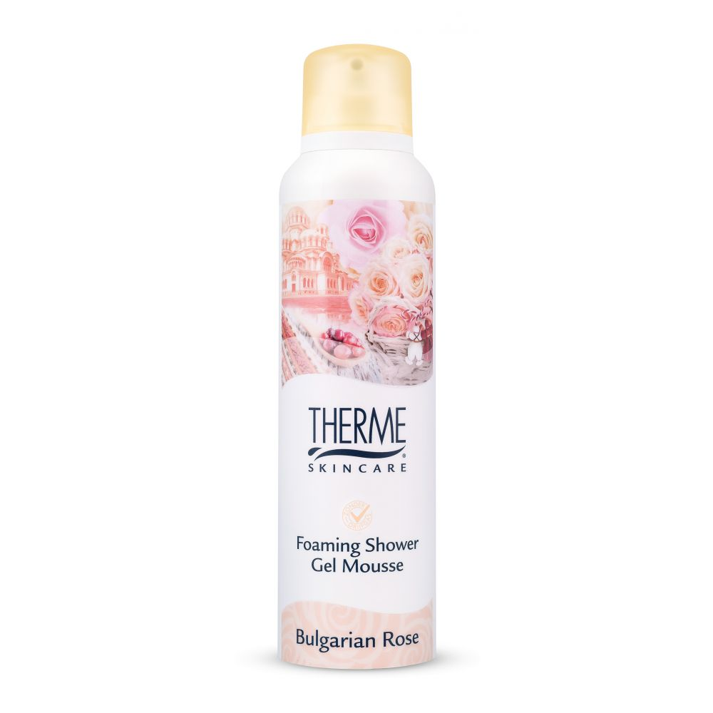 6x Therme Foaming Shower Gel Bulgarian Rose 200 ml