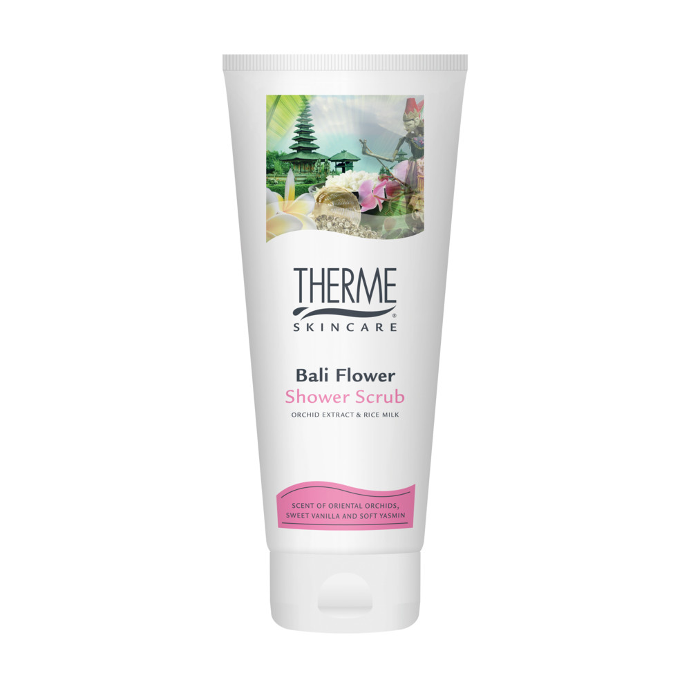 6x Therme Shower Scrub Bali Flower 200 ml