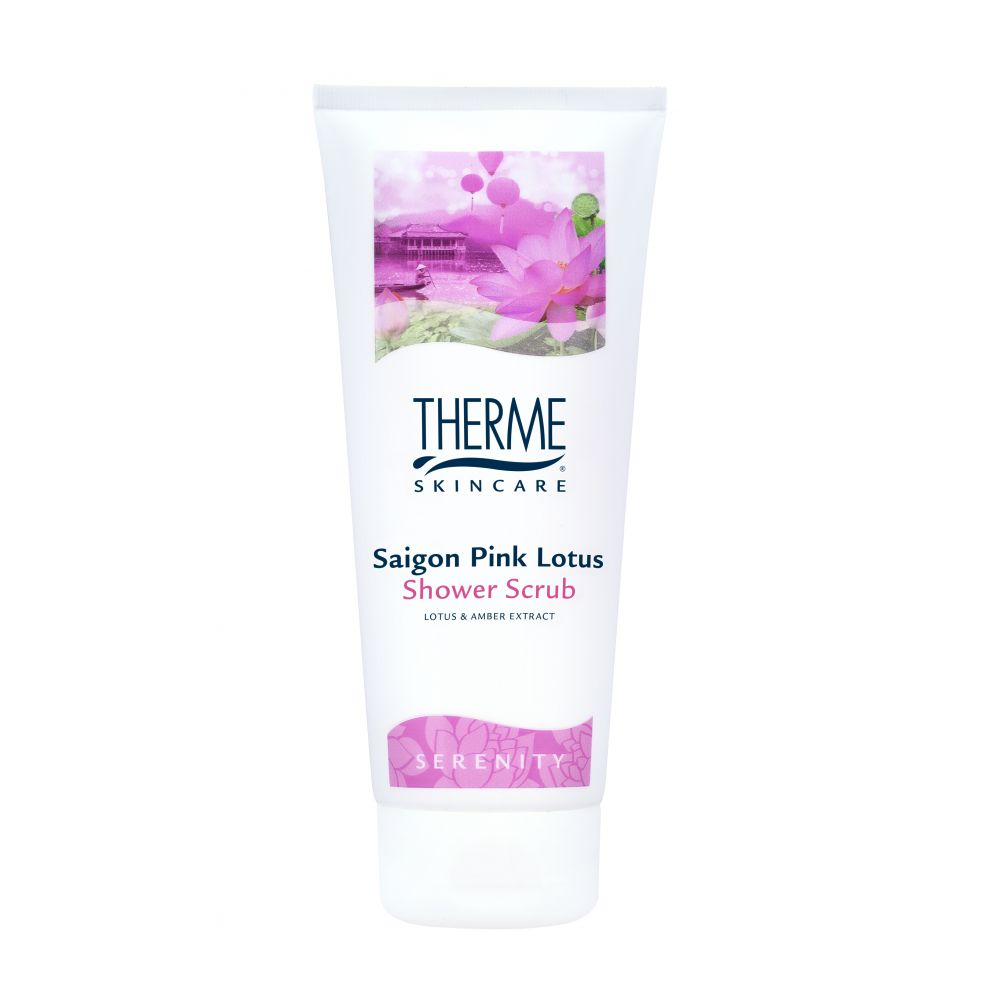 6x Therme Shower Scrub Saigon Pink Lotus 200 ml