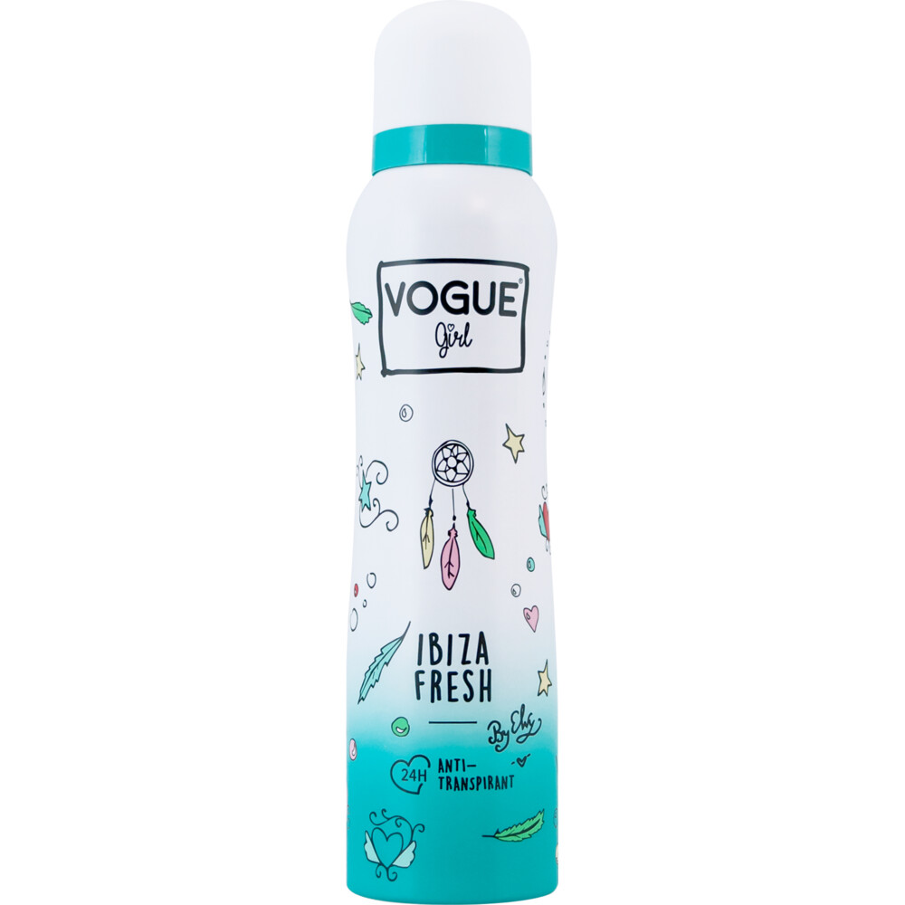 6x Vogue Girl Anti Transpirant Ibiza Fresh 150 ml