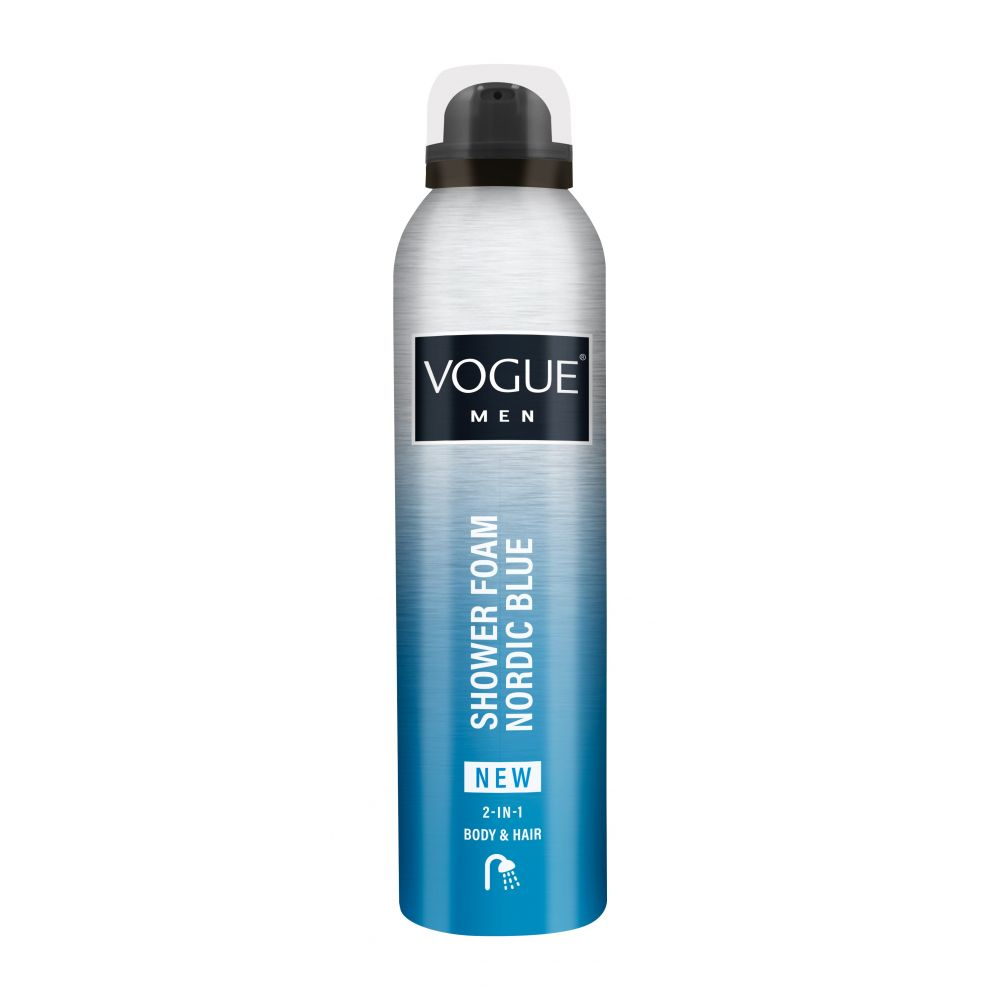 6x Vogue Men Douche Foam Nordic Blue 200 ml