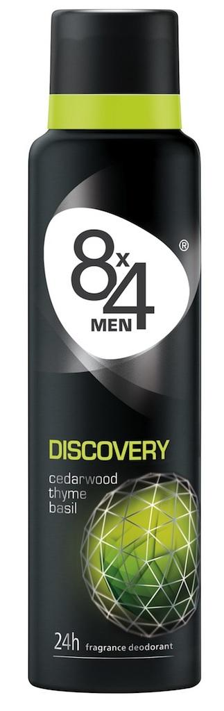 8x4 Deospray for Men Discovery 150 mL