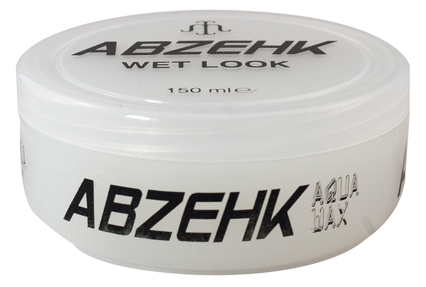 Abzehk Haarwax - Zwart Wet Look 150 ml.
