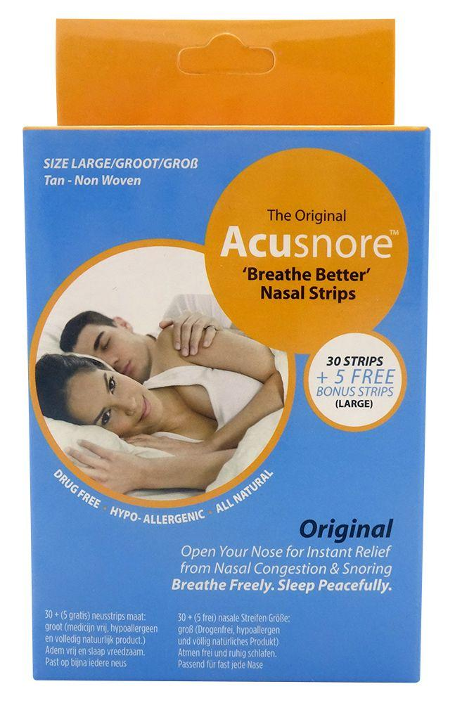 Acusnore - breathe better Neuspleisters Large TAN 35 st.