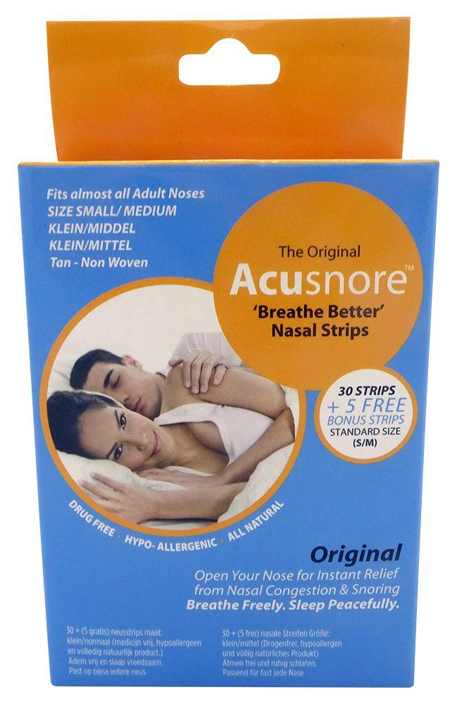 Acusnore - breathe better Neuspleisters Small Medium TAN 35 st.