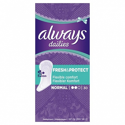 Always Dailies Inlegkruisjes Fresh And Protect Normal