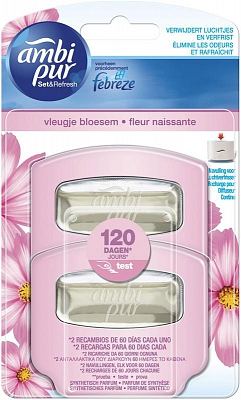 Ambi Pur Non Electrical Air Vleugje Bloesem Navulling 55ml