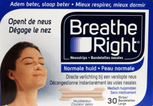 Breathe Right Neuspleisters - Normale Huid 30 Stuks